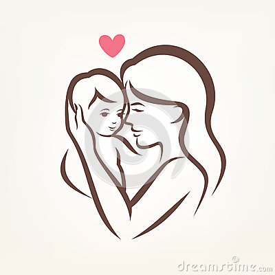 Clipart Pictures Of Mother And Child