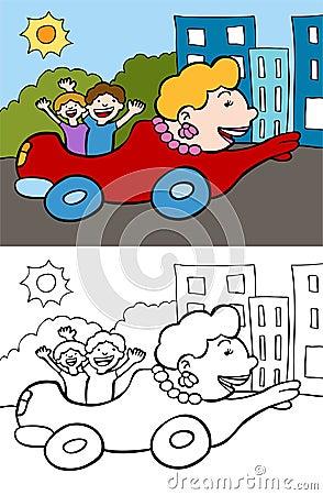 Mom in a car