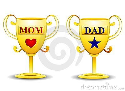 Mom and Dad Gold Trophies