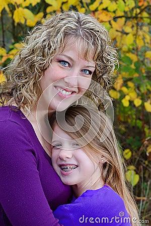 Beautiful Mom Mother Teen Daughter