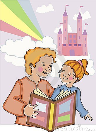 Mom and daughter reading.