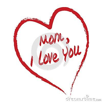 Free Mom I Love You Card Stock Photo - 2209640