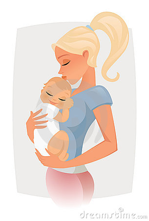 Mom Love Vector Royalty Free Stock Image - Image: 18360796