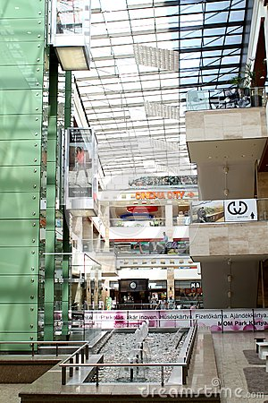 Mom Park mall in Budapest Editorial Stock Photo