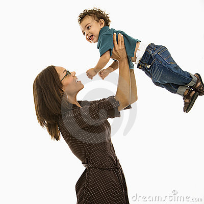 Free Mom Playing With Baby. Stock Photography - 3422702