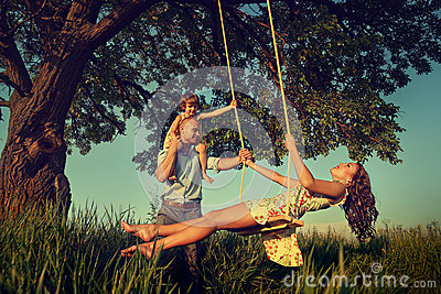 Mom on the swing