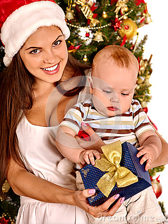 christmas hat box baby