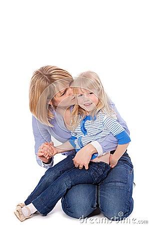 Mom whisper in child s ear