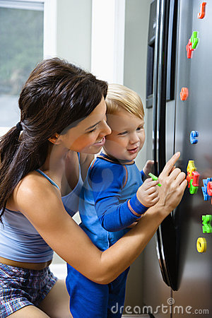 Free Mom With Child. Stock Photo - 3423530