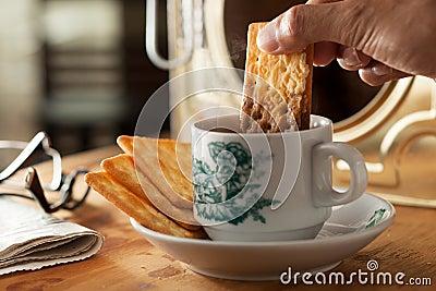 Moment of breakfast.