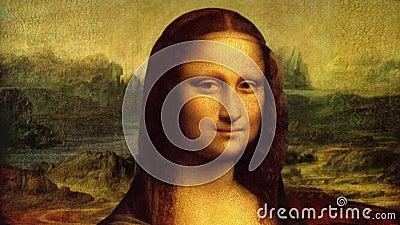 Mona Lisa a animé la peinture
