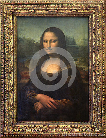 Free Mona Lisa Canvas At Louvre Museum In Paris Royalty Free Stock Image - 62480846