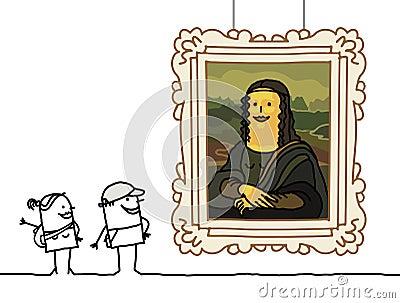 Mona Lisa cartoon
