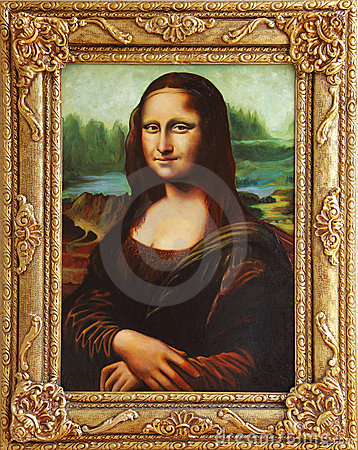 Mona Lisa with frame Editorial Image