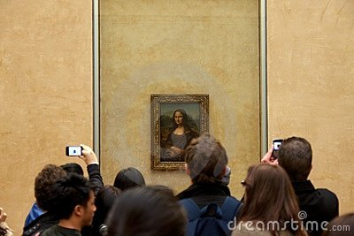 The Mona Lisa in the Louvre Editorial Photo