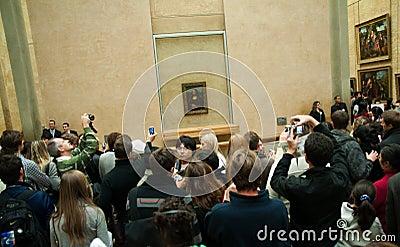 Mona Lisa at Musée du Louvre, Paris Editorial Stock Photo
