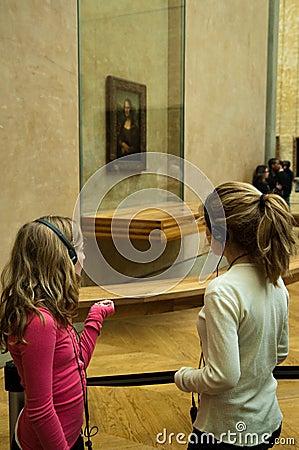 Mona Lisa at Musée du Louvre, Paris Editorial Stock Image