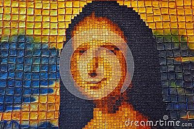 Mona lisa toast art