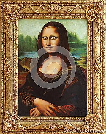 Free Mona Lisa With Frame Stock Photo - 21378350