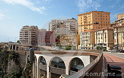 Monaco - Architecture of buildings Editorial Stock Image