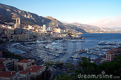 Monaco docks from above