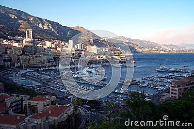 Monaco-Docks von oben