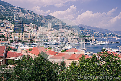 Monaco and marina.