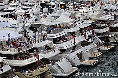 Monaco, spectators during the F1 Grand Prix 2012 Editorial Image