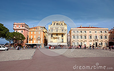 Monaco - view of opposite the Palace Editorial Stock Image