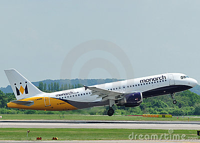 Monarch Airbus A320 Editorial Image