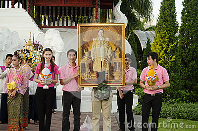 Monarchist Youth, Thailand Editorial Photography