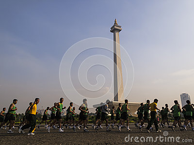 Monas, Indonesia National Monument in Jakarta Editorial Photo