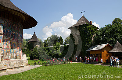 Monasteries of Moldavia: Moldovita Editorial Image