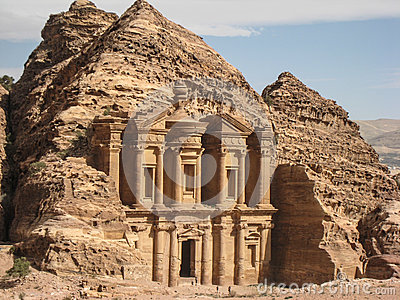 The monastery or Ad Deir at Petra. Jordan