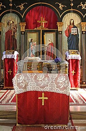 Monastery alter