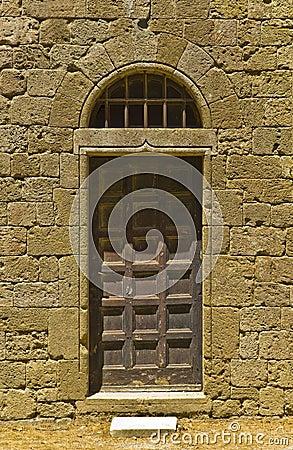 Monastery back door