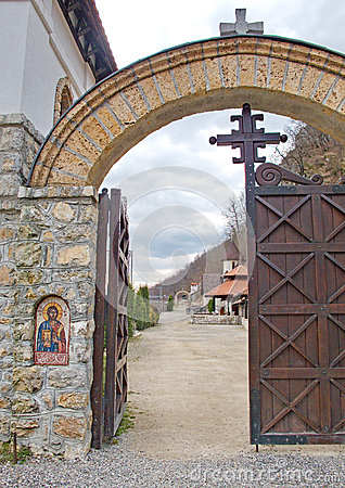 Free Monastery Entrance Door Royalty Free Stock Photos - 64496628