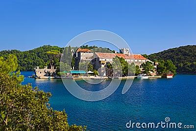 Monastery at island Mljet in Croatia