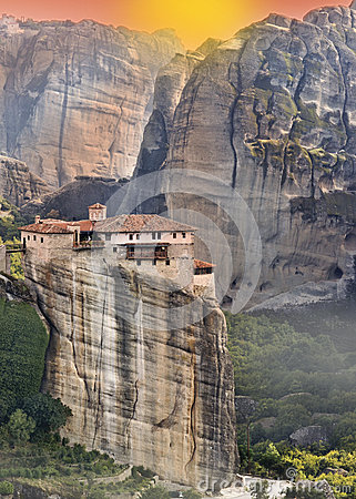Monastery at Meteroa in Greece