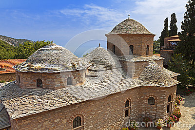 Monastery at Skiathos island in Greece
