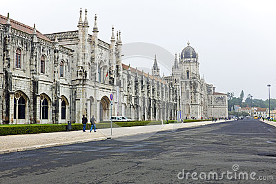 The Monastery of St. Jeronimos in Lisbon Portugal Editorial Photo