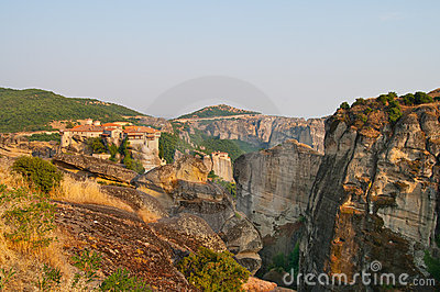 Monastery of Varlaam at Meteora landscape