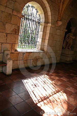 Free Monastery Window Royalty Free Stock Photography - 439777