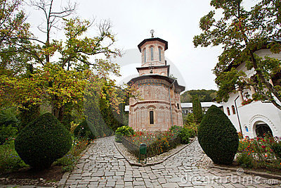 Monastery from an wood-the stone church