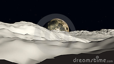 Mond Moon Ansicht