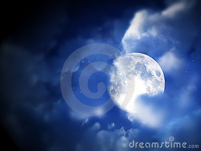Mond-nächtlicher Himmel 5