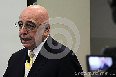 Adriano Galliani Editorial Stock Photo