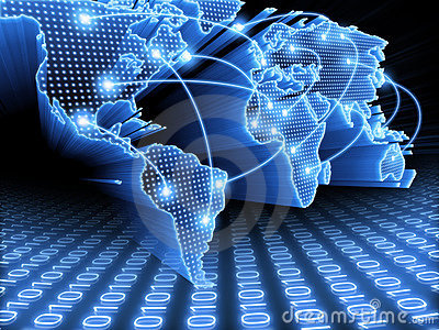 Monde de carte de l information