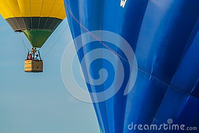 Mondial hot Air Ballon reunion in Lorraine France Editorial Image