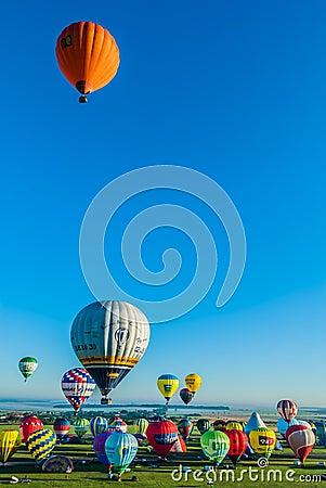 Mondial hot Air Ballon reunion in Lorraine France Editorial Photo